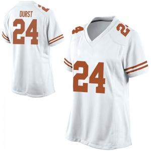 Jarmarquis Durst Nike Texas Longhorns Women's Replica Football College Jersey - White