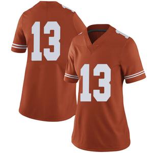 Jase Febres Nike Texas Longhorns Women's Limited Women Football College Jersey - Orange