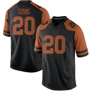 Jericho Sims Nike Texas Longhorns Men's Game Mens Football College Jersey - Black