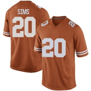 Jericho Sims Nike Texas Longhorns Men's Game Mens Football College Jersey - Orange