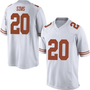 Jericho Sims Nike Texas Longhorns Men's Game Mens Football College Jersey - White
