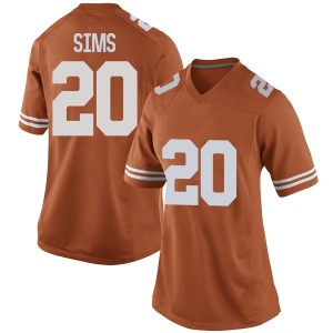 Jericho Sims Nike Texas Longhorns Women's Game Women Football College Jersey - Orange