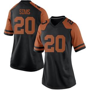 Jericho Sims Nike Texas Longhorns Women's Replica Women Football College Jersey - Black