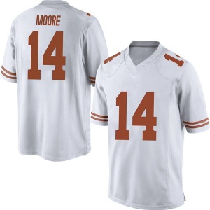 Joshua Moore Nike Texas Longhorns Men's Replica Mens Football College Jersey - White