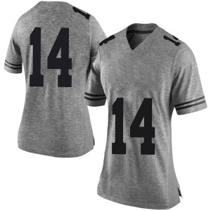 Joshua Moore Nike Texas Longhorns Women's Limited Women Football College Jersey - Gray