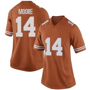 Joshua Moore Nike Texas Longhorns Women's Replica Women Football College Jersey - Orange