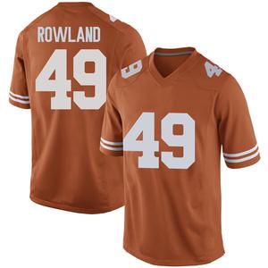Joshua Rowland Nike Texas Longhorns Men's Replica Mens Football College Jersey - Orange