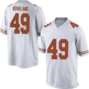Joshua Rowland Nike Texas Longhorns Men's Replica Mens Football College Jersey - White