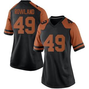 Joshua Rowland Nike Texas Longhorns Women's Replica Women Football College Jersey - Black
