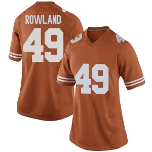 Joshua Rowland Nike Texas Longhorns Women's Replica Women Football College Jersey - Orange