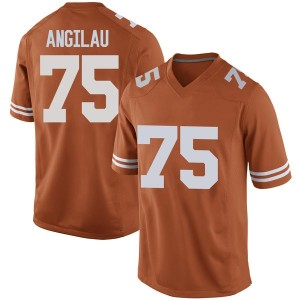 Junior Angilau Nike Texas Longhorns Men's Replica Mens Football College Jersey - Orange