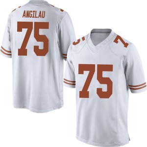 Junior Angilau Nike Texas Longhorns Men's Replica Mens Football College Jersey - White