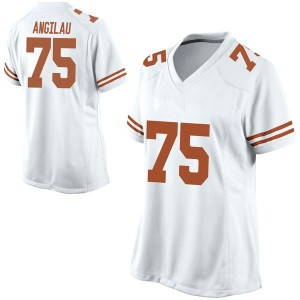Junior Angilau Nike Texas Longhorns Women's Replica Football College Jersey - White