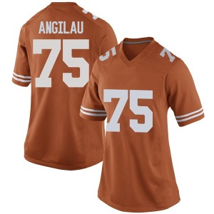 Junior Angilau Nike Texas Longhorns Women's Replica Women Football College Jersey - Orange