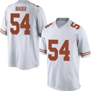 Justin Mader Nike Texas Longhorns Men's Game Mens Football College Jersey - White