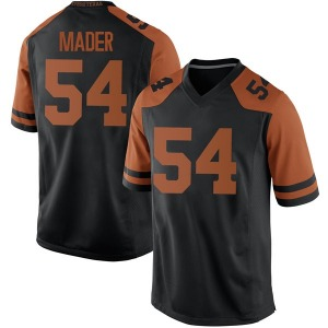 Justin Mader Nike Texas Longhorns Men's Replica Mens Football College Jersey - Black