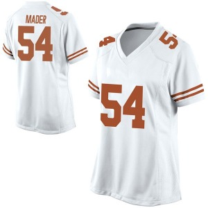 Justin Mader Nike Texas Longhorns Women's Game Football College Jersey - White
