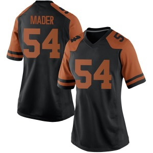 Justin Mader Nike Texas Longhorns Women's Replica Women Football College Jersey - Black