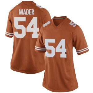 Justin Mader Nike Texas Longhorns Women's Replica Women Football College Jersey - Orange