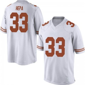 Kamaka Hepa Nike Texas Longhorns Men's Replica Mens Football College Jersey - White