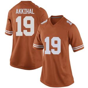 Kartik Akkihal Nike Texas Longhorns Women's Game Women Football College Jersey - Orange