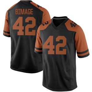 Marqez Bimage Nike Texas Longhorns Men's Replica Mens Football College Jersey - Black