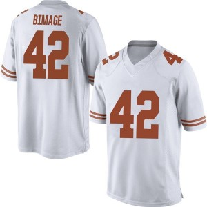 Marqez Bimage Nike Texas Longhorns Men's Replica Mens Football College Jersey - White