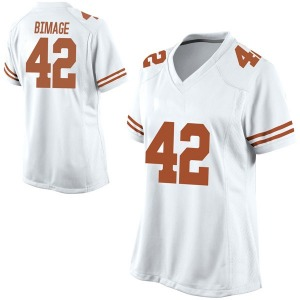 Marqez Bimage Nike Texas Longhorns Women's Replica Football College Jersey - White