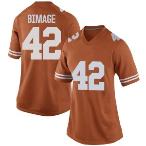 Marqez Bimage Nike Texas Longhorns Women's Replica Women Football College Jersey - Orange