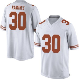Mason Ramirez Nike Texas Longhorns Men's Replica Mens Football College Jersey - White