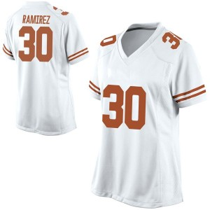 Mason Ramirez Nike Texas Longhorns Women's Game Football College Jersey - White