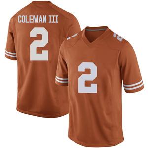 Matt Coleman III Nike Texas Longhorns Men's Replica Mens Football College Jersey - Orange