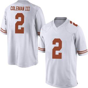 Matt Coleman III Nike Texas Longhorns Men's Replica Mens Football College Jersey - White