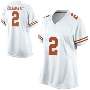 Matt Coleman III Nike Texas Longhorns Women's Replica Football College Jersey - White