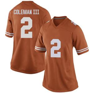Matt Coleman III Nike Texas Longhorns Women's Replica Women Football College Jersey - Orange