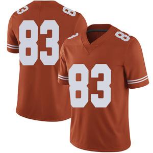 Michael David Poujol Nike Texas Longhorns Men's Limited Mens Football College Jersey - Orange