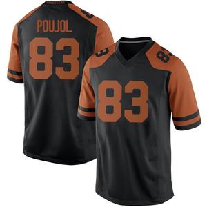Michael David Poujol Nike Texas Longhorns Men's Replica Mens Football College Jersey - Black