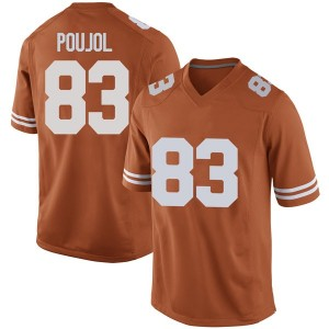 Michael David Poujol Nike Texas Longhorns Men's Replica Mens Football College Jersey - Orange