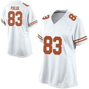 Michael David Poujol Nike Texas Longhorns Women's Game Football College Jersey - White