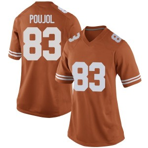 Michael David Poujol Nike Texas Longhorns Women's Game Women Football College Jersey - Orange