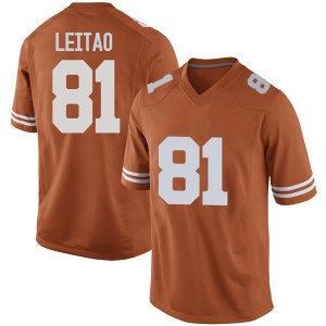 Reese Leitao Nike Texas Longhorns Men's Replica Mens Football College Jersey - Orange