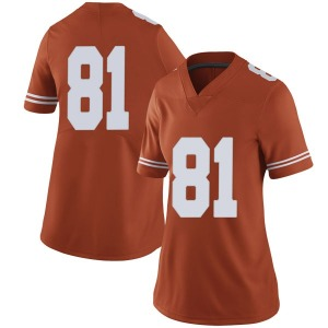 Reese Leitao Nike Texas Longhorns Women's Limited Women Football College Jersey - Orange