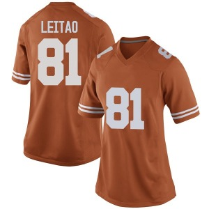 Reese Leitao Nike Texas Longhorns Women's Replica Women Football College Jersey - Orange