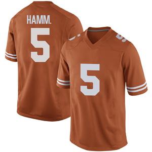 Royce Hamm Jr. Nike Texas Longhorns Men's Game Mens Football College Jersey - Orange