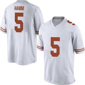 Royce Hamm Jr. Nike Texas Longhorns Men's Replica Mens Football College Jersey - White