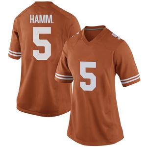 Royce Hamm Jr. Nike Texas Longhorns Women's Game Women Football College Jersey - Orange