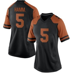 Royce Hamm Jr. Nike Texas Longhorns Women's Replica Women Football College Jersey - Black