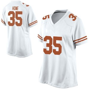 Russell Hine Nike Texas Longhorns Women's Replica Football College Jersey - White