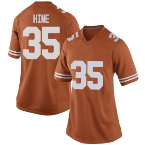 Russell Hine Nike Texas Longhorns Women's Replica Women Football College Jersey - Orange