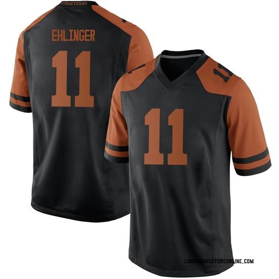 Sam Ehlinger Nike Texas Longhorns Men's Replica Mens Football College Jersey - Black